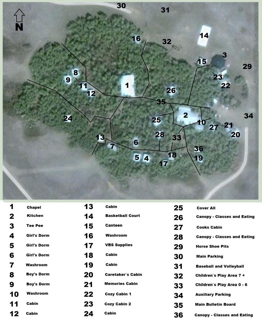 ELBC -Rental Site map
